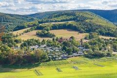 德国风景看法在绍尔兰山 免版税库存图片