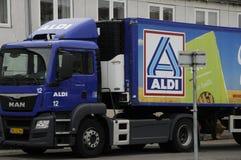 德国食物链aldi 免版税库存图片