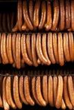德国香肠抽烟了 免版税图库摄影