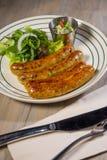 德国香肠沙拉 库存照片