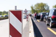 德国高速公路建造场所 免版税库存照片