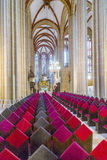 德国,图林根州, Muhlhausen,我们的夫人教会看法  免版税库存图片