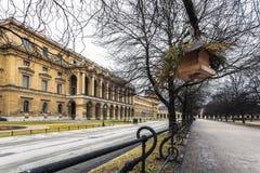 德国,慕尼黑 住所巴法力亚kurfyustov ( birdhouse) 库存图片