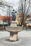 德国,慕尼黑 喷泉Liesl Karlstadt 免版税图库摄影