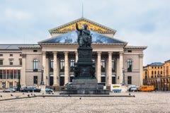 德国,慕尼黑 国家戏院 免版税图库摄影