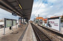 德国,慕尼黑 地铁站乐团诺伊比贝尔格 免版税库存照片
