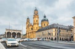 德国,慕尼黑 教会Theatines 库存照片