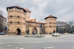 德国,慕尼黑 门Isartor 免版税库存图片
