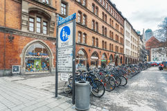 德国,慕尼黑 Diener Strasse 免版税库存图片