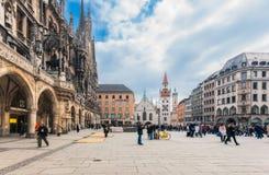 德国,慕尼黑 Marienplatz 图库摄影