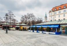 德国,慕尼黑 Viktualienmarkt 图库摄影