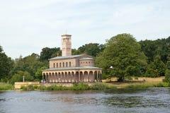 德国,柏林, Wannsee,教会 免版税库存图片