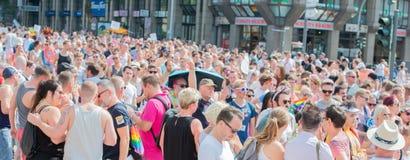 德国,汉堡- 2018年8月4日:克里斯托弗街道天 爱游行在汉堡 免版税库存图片