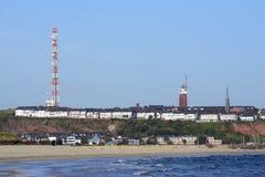 德国,石勒苏益格-荷尔斯泰因州,看法到海岛黑尔戈兰岛 图库摄影