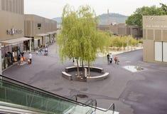 德国-2012年5月30日:出口城市梅钦根销售的中心在慕尼黑附近的 免版税库存照片