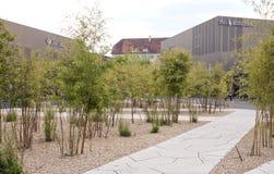 德国-2012年5月30日:出口城市梅钦根销售的中心在慕尼黑附近的 免版税库存图片