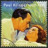 德国- 2007年:展示保罗克林格卡尔海因里奇Klinksik 1907-1971,演员和纳迪亚灰色Kujnir 1923-1994 库存图片
