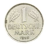 德国1965年一枚deutch标记硬币 库存图片