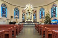 德国Christinae教会的内部在哥特人,瑞典 免版税库存图片