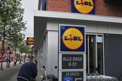德国CROBVER链子LIDL在哥本哈根丹麦 库存照片