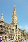 德国marienplatz慕尼黑 免版税库存图片