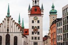 德国marienplatz慕尼黑 免版税库存照片