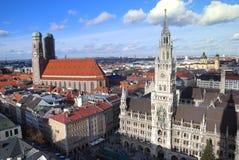德国marienplatz munchen 免版税库存照片