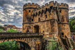 德国s门在梅茨,法国 库存图片
