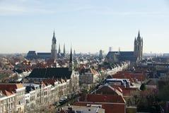 德尔福特荷兰俯视 免版税图库摄影