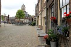 德尔福特,荷兰集市广场  库存照片