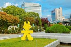 德川家康标志在大阪,日本 免版税图库摄影