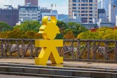德川家康标志在大阪 库存图片
