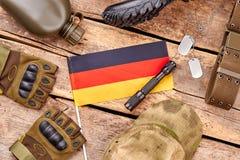 德意志军队战士项目舱内甲板位置 免版税库存照片