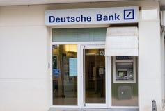 德意志银行分支 免版税图库摄影