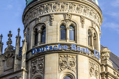 德意志银行商标 免版税图库摄影