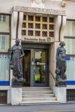 德意志银行在中央的里雅斯特意大利 免版税库存照片