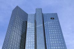 德意志银行总部,法兰克福 免版税库存图片