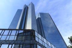 德意志银行总部,法兰克福 免版税库存照片