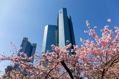 德意志银行法兰克福-德国的总部 免版税库存图片