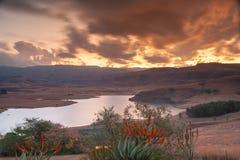 德拉肯斯山脉,夸祖鲁纳塔尔,南非 库存图片