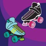 德比溜冰鞋 库存照片