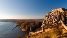德温城堡废墟 免版税库存照片