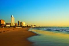 德班海滩前面南非 免版税库存照片