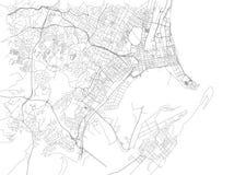 德班,城市地图,南非街道  闹事 皇族释放例证