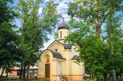 德米特里・顿斯科伊教堂在Andronikov修道院的东部墙壁外 莫斯科 图库摄影