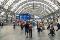 德累斯顿中央火车站内部  库存图片