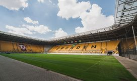 德累斯顿体育场DDV-Stadion 免版税库存照片