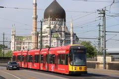 德累斯顿公共交通 免版税库存照片