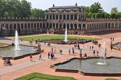 德累斯顿宫殿zwinger 免版税图库摄影
