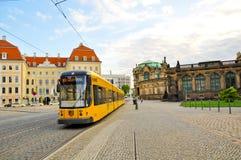 德累斯顿德国电车 图库摄影